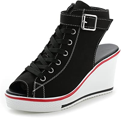 Heeled Sneakers with Suit Jacket