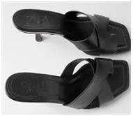 Toe Heeled Leather Sandals